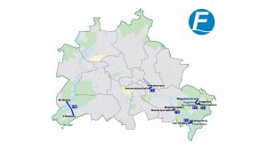 Fähren in Berlin - Übersichtsplan