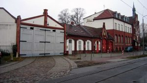 Wagenhalle der Uferbahn in Alt-Schmöckwitz