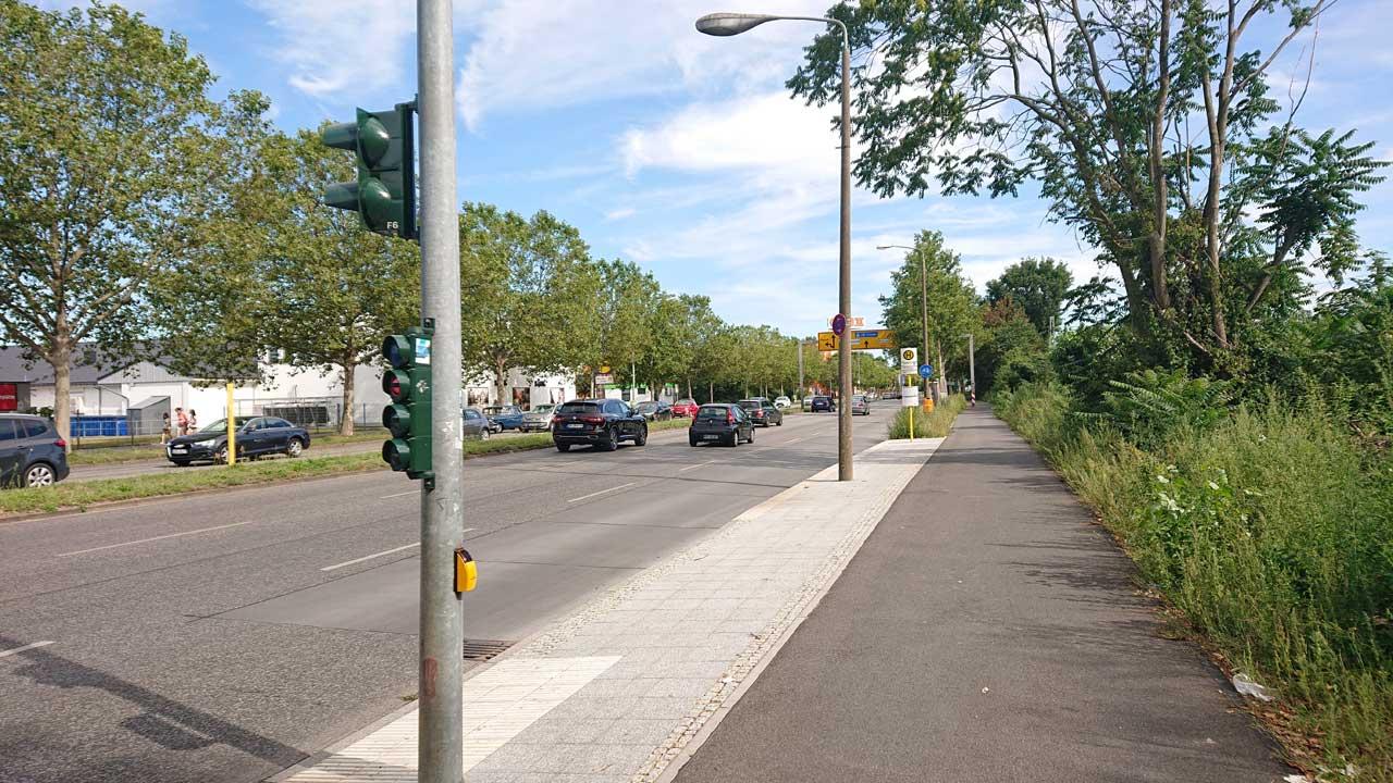 Neuer Radweg am Adlergestell in Treptow-Köpenick