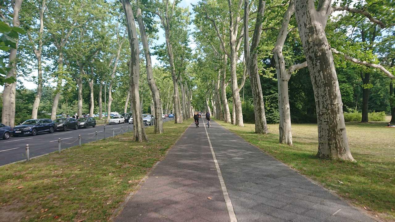 Radwege nach Schmöckwitz - Treptower Park