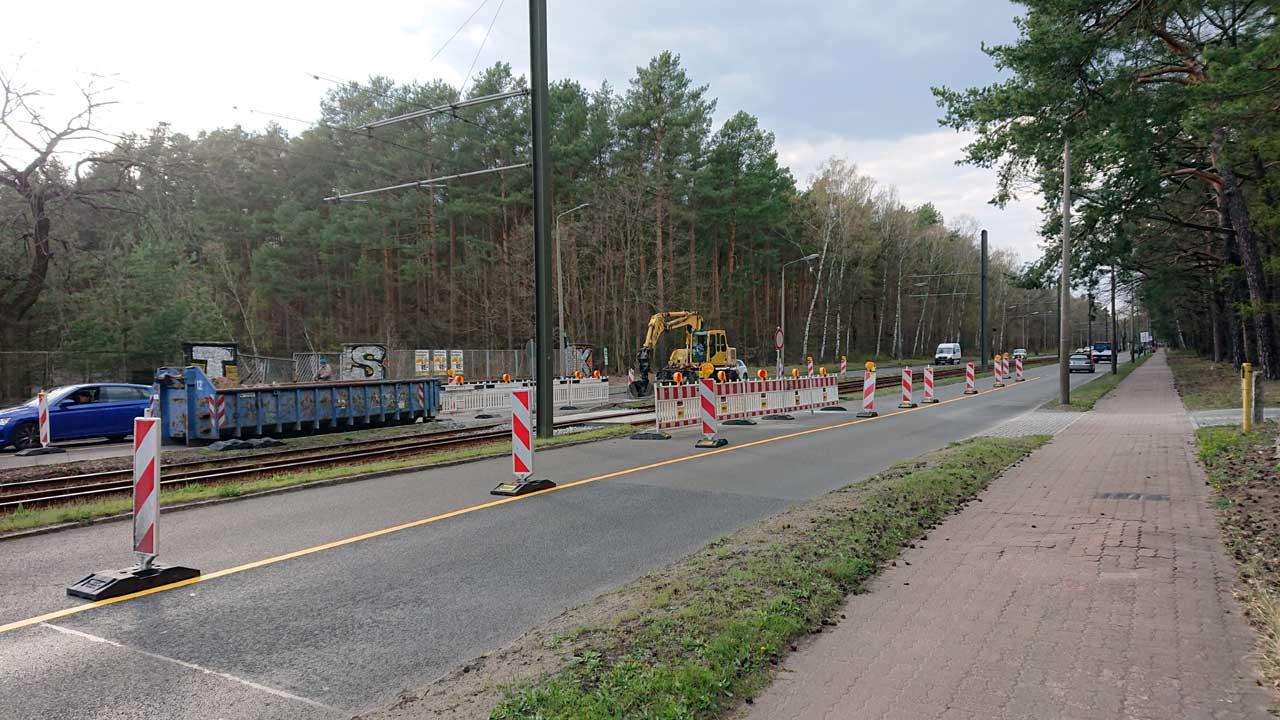 Neuer Gleisübergang Adlergestell